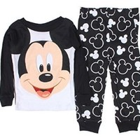 Mickey Mouse Baby Boys 12-24 M Long Sleeve Cotton Pajama Set (24 Months)