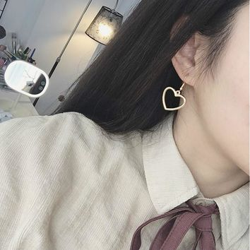 Hollow Heart Dangling Earrings