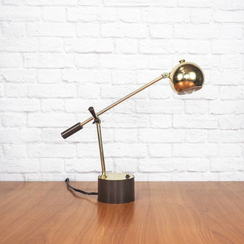 MCM Gold Eyeball Desk Lamp Adjustable Task Light