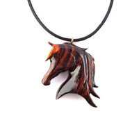 Wood Jewelry, Horse Necklace, Horse Pendant, Wood Pendant, Wood Necklace, Wood Horse Pendant, Horse Jewelry, Cowboy Pendant, Western Jewelry
