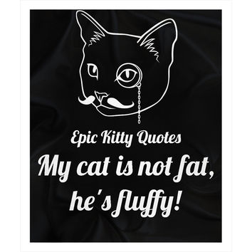 Funny Cat Blanket for People Fleece Sherpa Throw My cat is not fat, he's fluffy! 100% Polyester 50x60 inch EKQ