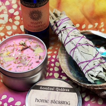 HOUSE BLESSING KIT - Clear The Energy In Your Home and Bring in Blessings - Housewarming Gift