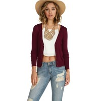 Burgundy Playing Cardigan