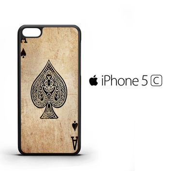Vintage Poker Card Spade Ace iPhone 5C Case