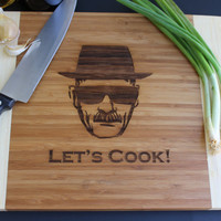 breaking bad, Let's Cook cutting board, Heisenberg, Walter white, Heisenberg cutting board --6010