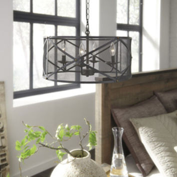 L000358 Jovani Metal Pendant Light (1/CN) - Charcoal - Free Shipping!