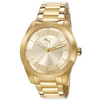 Puma PU103302002 Women's Pursuit Gold Tone Dial Gold Plated Steel Bracelet Watch