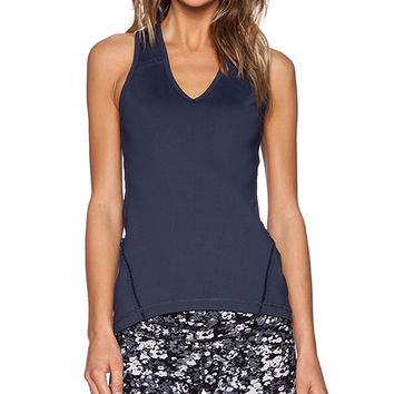Vimmia Lace Back Barre Tank in Navy