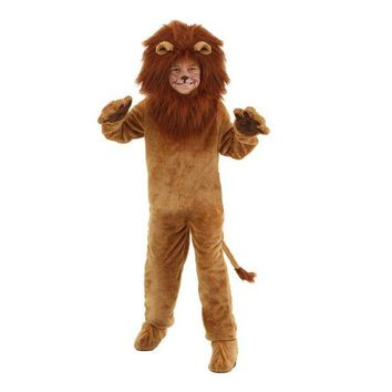 ONETOW Child Deluxe Lion Costume Kids Animal Halloween Cosplay Costumes Fancy Wizard of Oz Movie Role Jumpsuits