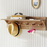Natural Peg Shelf