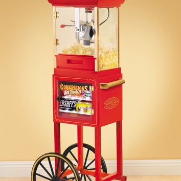 CCP310TIARA | Vintage Collection™ Old Fashioned Popcorn & Concession Cart | Nostalgia Electrics