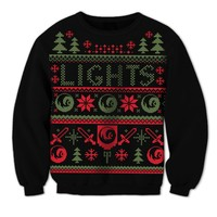 LIGHTS OFFICIAL STORE - Holiday Pixel Crewneck Sweater