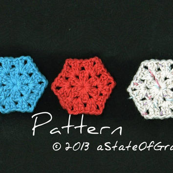 PATTERN - Six Sided Facial Scrubbies - Crochet Pattern - INSTANT DOWNLOAD