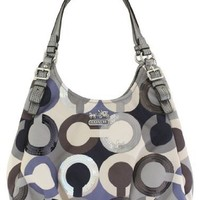 Coach 19180 Madison Graphic Op Art Sequin Maggie Hand Bag