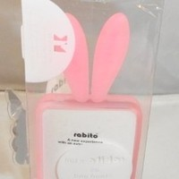 "Bunny Rabito Rabbit Rubber Skin ""3D TPU"" Case For iPhone 4 pink ~USA SELLER~ (att & Verizon)"