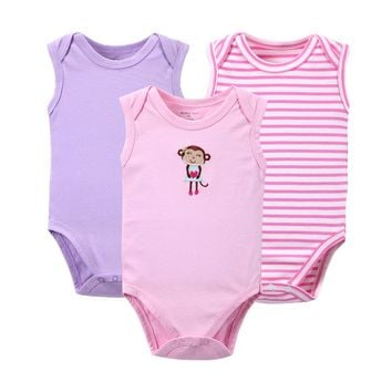Retail 3 Pieces/lot Cartoon Style Baby Girl Boy Summer Autumn Clothes New Born Body Baby Ropa Next Baby Bodysuit
