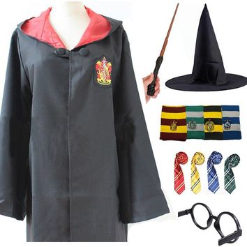 Cool Kids Adult Gryffindor Robe Cloak Tie Scarf Ravenclaw Hufflepuff Slytherin for Harris Potter Cosplay Costume Clothing HalloweenAT_93_12