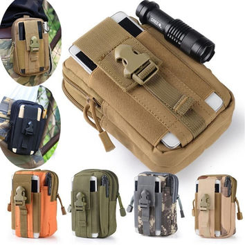 Universal Military Tactical Holster Hip Belt Bag Waist Phone Case For doogee x5 max pro t6 x6 leeco le 2 blackview bv6000 bv5000