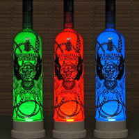 Christian Audigier French Vodka LED Color Changing Remote Control Bottle Lamp Bar Light