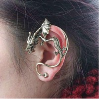 Single Punk Style Dragon Shape Earring
