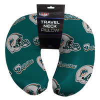 Miami Dolphins NFL Beadded Spandex Neck Pillow (12in x 13in x 5in)