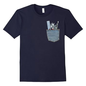 Work Tools in My Pocket Funny Mechanical Engineer T Shirt