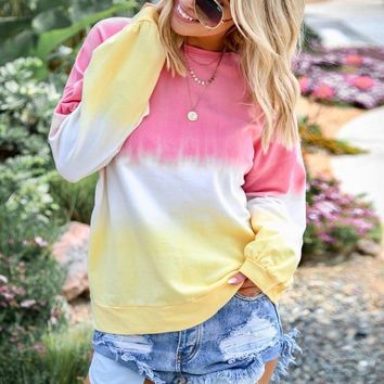 DeRuiLaDy 2019 Fall Winter Women Sweatshirt Loose O Neck Long Sleeve Print Hoodies Fashion Casual Rainbow Hoodie Sweatshirts 5XL