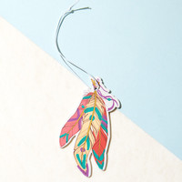 Multicolor Feathers Red & Green Car Air Freshener
