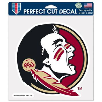 "FLORIDA STATE SEMINOLES LOGO 8""X8"" COLOR DIE CUT DECAL BRAND NEW WINCRAFT"