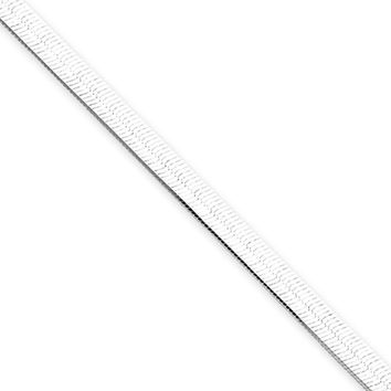 3.25mm, Sterling Silver Solid Herringbone Chain Necklace, 20 Inch