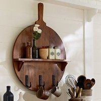 Cuisine Board Shelf with Hooks