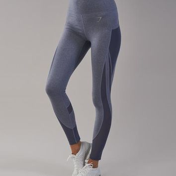 Gymshark Sleek Sculpture Leggings 2.0 - Steel Blue Marl