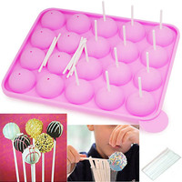 Silicone Cake Stick Pops Mould Cupcake Baking Tray Pop Mold Party Kitchen Tools