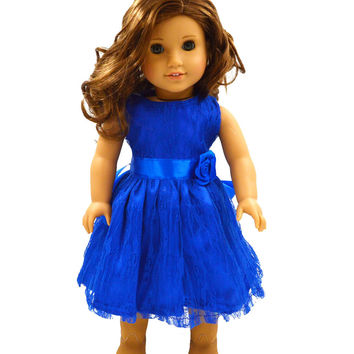 "Free shipping hot 2016 new style Popular 18"" American girl doll clothes dress b2605"