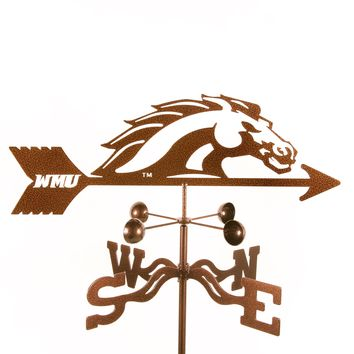 Western Michigan University Broncos Collegiate Rain Gauge Garden Stake Weathervane