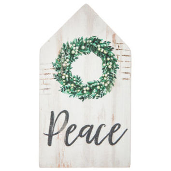 Peace & Wreath House Wood Decor | Hobby Lobby | 5349634