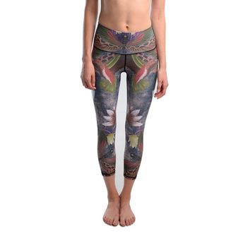 JIGERJOGER 2017 Grey Dragonfly ash bottom breathable FAST DRY gym running Cropped women's 3/4 ankle capris Yoga short Activewear
