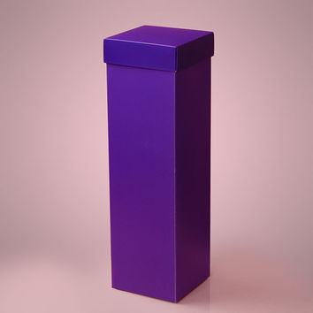 Purple Deluxe Two Piece Wine Liquor Bottle Tall Gift Favor Boxes, 4 x 4 x 15 inches, 25 pack