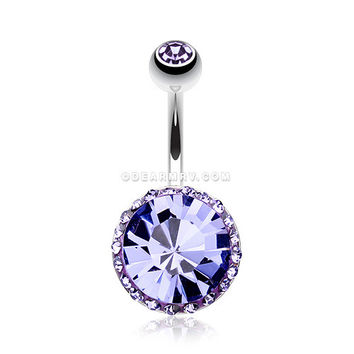 Grand Sparkle Rays Belly Button Ring (Tanzanite)