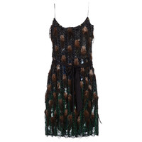 Matthew Williamson Beaded Dress with Feathers