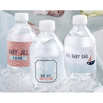 Personalized Water Bottle Labels - Kate's Nautical Baby Collection