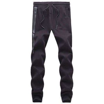 VONE05F8 1637side spliced leather track pants casual trousers harem pants men sweatpants pantalon hommeMens joggers m 4xl