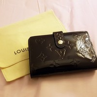 Louis Vuitton French Purse Kisslock Wallet Amarante Leather