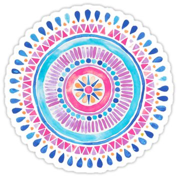 'Watercolor Mandala' Sticker by meg779