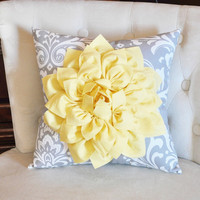 light Yellow Throw Pillow