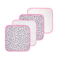 Just Born's 4 Pack Washcloth - Leopard