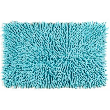 Cotton Chenille Bath Rugs | Turquoise