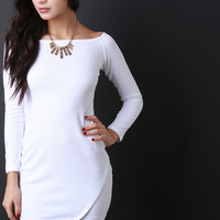 Boat Neck Envelope Dress