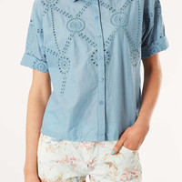 Embroidered Border Shirt - New In This Week - New In - Topshop USA