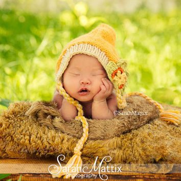 Baby Hat, Baby Newborn Hats, Baby Crochet Hats, Newborn Baby Hat, Knit Newborn Hat, Baby Elf Hat, Newborn Photography Prop